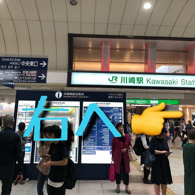 JR川崎中央改札口